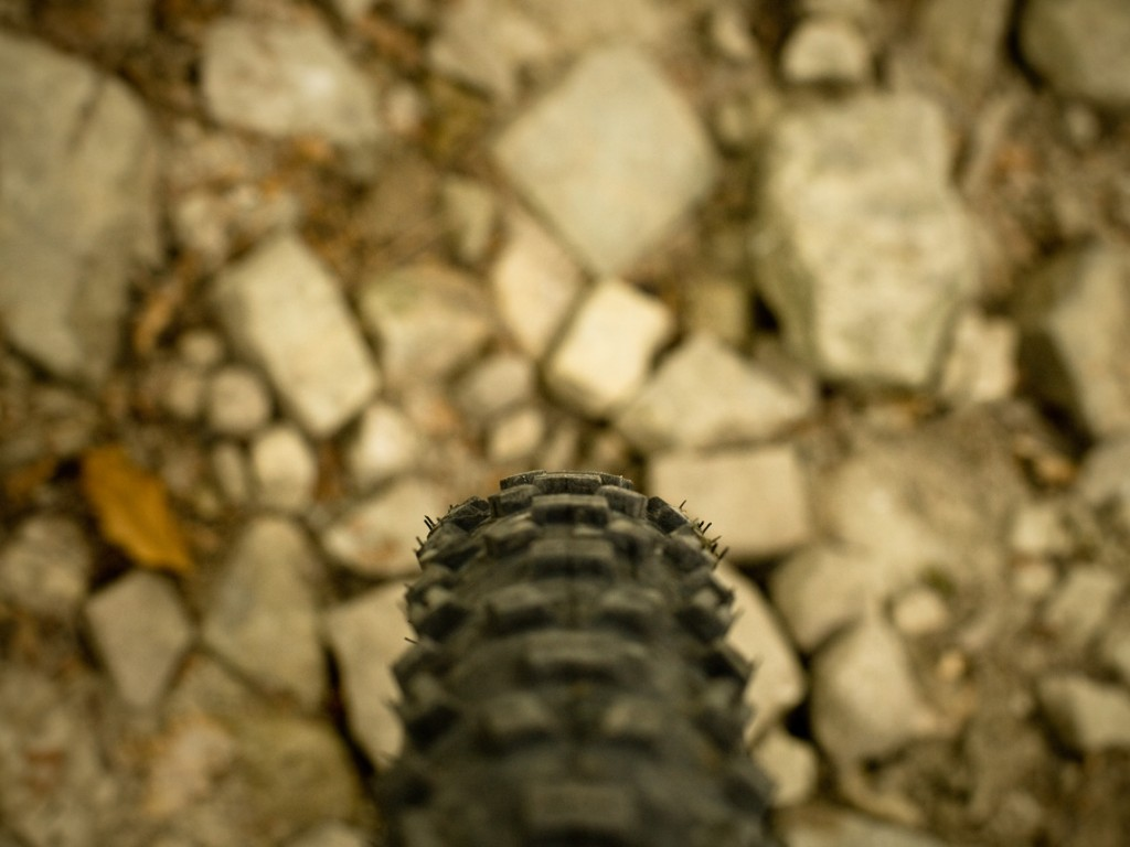 There were so many loose stones on the path until Międzybrodzkie Reservoir, no matter wether uphill, flat or downhill, that I thought about moving into a full suspension bike for the first time.